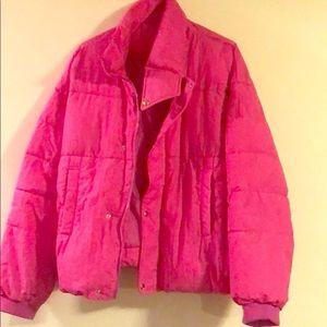 Bright Pink Free People Coat